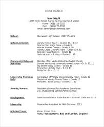 Teenage Resume Template Stunning Resume Template For Teenager Commily