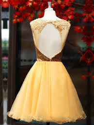 Yellow Homecoming Dresses Short Party Dresses 2017 Homecoming