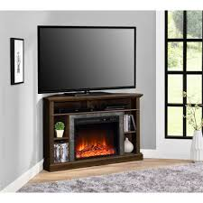 Colleen Wall Or Corner Electric Fireplace Media Console In White Electric Corner Fireplace Tv Stand