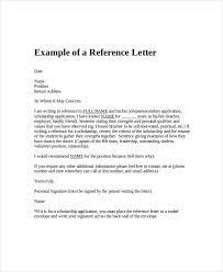 Pattern Of Reference Letter Reference Letters For Employment Reference Letter Writing