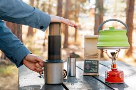 The dark plastic coffee maker, like most of the coffee makers by aeropress comes with a funnel for your coffee grounds, a stirrer, scoop, and filters that should last a whole year. How To Make Amazing Camp Coffee With An Aeropress Coffee Maker Fresh Off The Grid