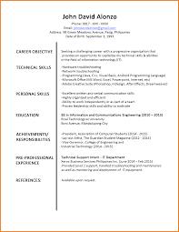 Sample Cv Cv Sample For Fresh Graduate Doc Sample Resume Format For Fresh