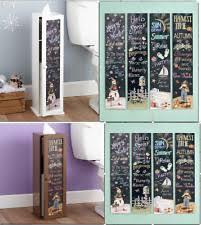 Wooden Bathroom Toilet Tissue Paper Storage Cabinet ...