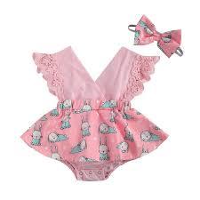 Sleeveless Lace Ruffle <b>Summer</b> Outfits | <b>0</b>-<b>24M</b> – Merry Tot™