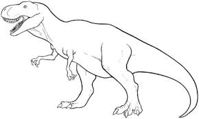 T Rex Coloring Pages Easy Kids Colouring Pages Pinterest