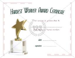 Military Certificate Templates Hardest Worker Award Template Free and Premium Download 48