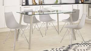 eames style dining set with six chairs strong glass table