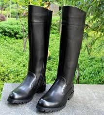 details about mens leather knee high equestrian boots germany riding military boots shoes new