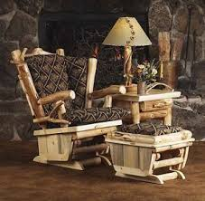 western living room furniture. Image Is Loading Rustic-Glider-Rocker-Chair-with-Ottoman-Country-Western- Western Living Room Furniture