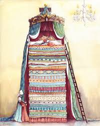 princess and the pea illustration. Plain Pea U0027The Bedclothes  The Princess And The Peau0027 By Karen Watson Illustration  From Canada With And Pea