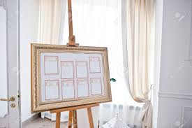 Wedding Seating Chart On The Easel At Light Restaurant