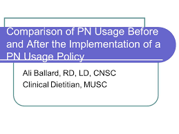 Musc Weight Loss Chart Comparison Of Pn Usage Before And After The Implementation