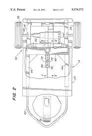 patent us5074372 knock down motorized three wheeled vehicle patent drawing