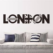 Small Picture Aliexpresscom Buy London Vinyl Union Jack Art Wall Sticker Home