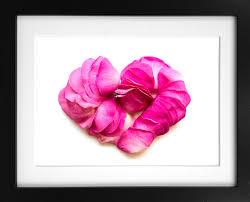 flower petal art print delicate rose heart