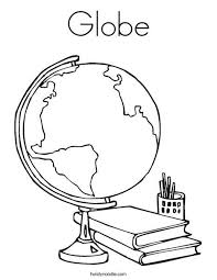 Globe Coloring Page Crafts For School Pinterest Coloring Pages
