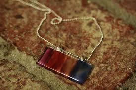 glass tile photo pendant