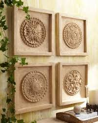 four piece wall medallion set 400 at horchow but could be made with ceiling on diy ceiling medallion wall art with ceiling medallions look best as metallic wall art dont you think