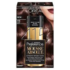3 Boxes Loreal Superior Preference Mousse Absolue 400 Pure Dark Brown