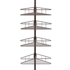 kenney oil rubbed bronze 4 tier triangle basket tension pole shower caddy