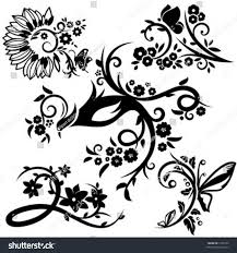 Chinese Designs Set 5 Chinese Floral Designs Stock Vector Royalty Free 1358152