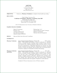 Resume for A Pharmacy Technician Objectives Unique Pharmacy Tech Resume  Objective