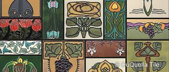 Arts And Crafts Decorative Tiles DuQuellaTile Handcrafted decorative tiles in Arts and Crafts Art 79
