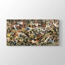 Jackson Pollock Convergence Canvas Table 100x50