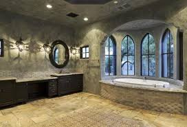 Traditional Bathroom Designs with Classic Wall Stones StylesHouse