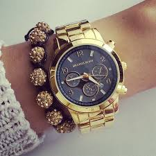 17 best images about w a t c h out rose gold gold mk watch gold shamballa bracelet michaelkorsbagarea pot com