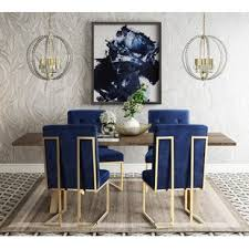 Blue dining room furniture Silver Blue Quickview Wayfair Navy Blue Dining Set Wayfair
