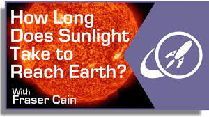 take sunlight to reach the earth