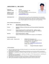 Current Resume Styles Most Format Curriculum Vitae Different Types