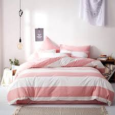 elegant pink and white rugby stripe nautical themed cute girly girls twin full queen size bedding sets home improvement cast members