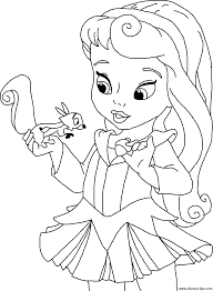Baby Princess Coloring Pages To Download And Print For Free