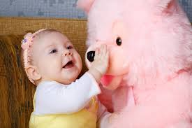 sweet baby with pink toy free hd