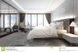Modern Luxury Bedroom Interior Design The Interior Design Of Modern Luxury Bedroom And Cityscape