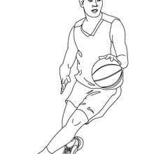 Basketball Player Dribbling Coloring Pages Hellokidscom