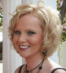 Hairstyles For Curly Hair With Round Face Bang With Short Haircuts