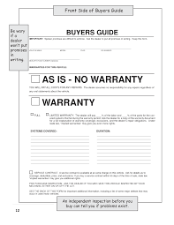 Vehicle Sale As Is Form Best Photos Of As Is No Warranty Bill Of Sale Form Used