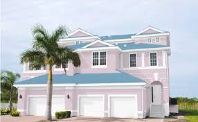 best colors to use with a blue roof