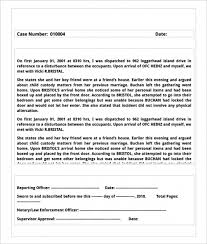 Sample Report In Pdf Unique Theft Report Form Template Sample Police Report Templates 44 Free