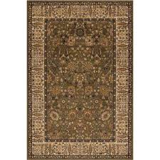 persian classics vase green 8 ft x 11 ft area rug