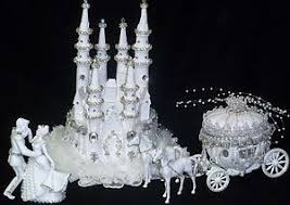 Cinderella Castle Coach Horses Lighted Cake Topper Birthday Wedding