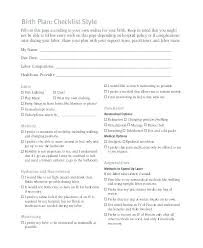 Why Is It Important To Have A Birth Plan One Page Birth Plan Template