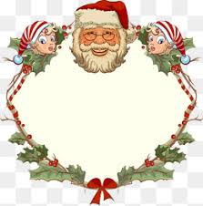 christmas santa borders and frames. Contemporary Christmas Santa Border Christmas Lovely Frame PNG Image And Clipart Intended Christmas Borders And Frames L