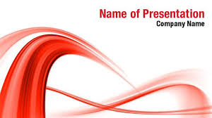 Red Abstract Wave Powerpoint Templates Red Abstract Wave