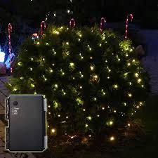 Batterie Lichternetz 15 X 15 M Mit 100 Le Warmweiß Mit Timer Außen