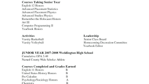High School Resume Examples For College Admission Beautiful High