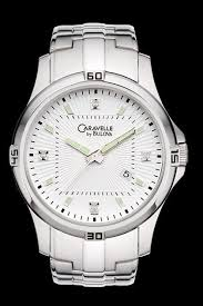 caravelle by bulova 43d100 diamond mens watch new bulova caravelle 43d100 diamond steel watch